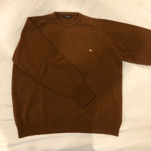 Burberry Brown New Wool Sweater Made In Scotland